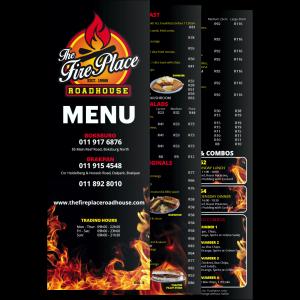 Fire Place menu re-design