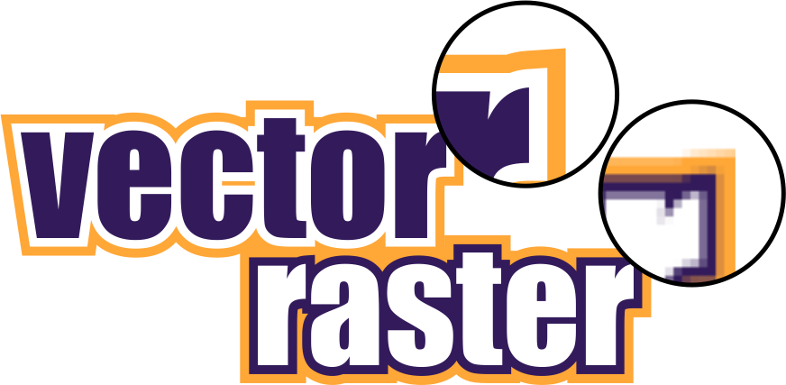 Vector vs Raster image comparison. The difference between common file formats