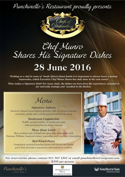 Chefs of Distinction Chef Munro poster