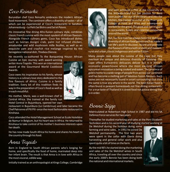 Culinery Journey menu inside front image