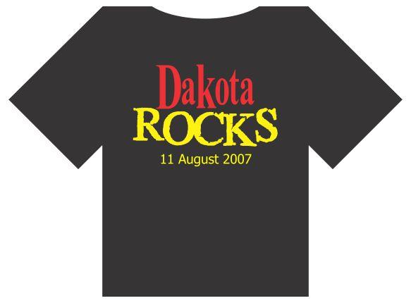 Dakota Rocks T-Shirt - front