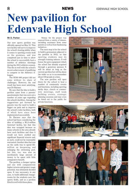 Edenvale High School magazine page 8