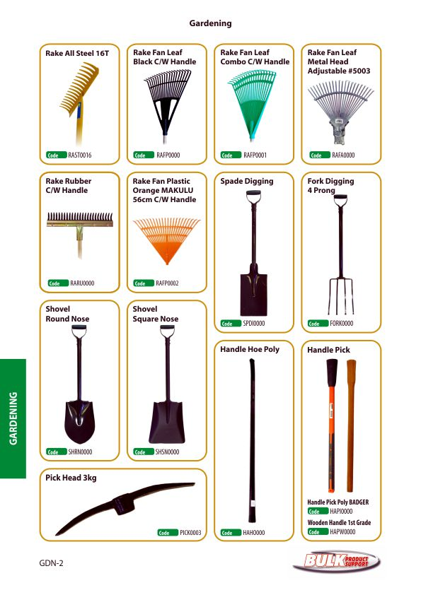 Bulk Product Support gardening page 2