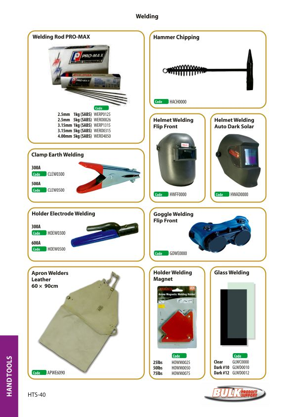 Bulk Product Support hand tools page 38