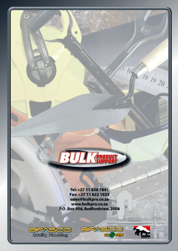 Bulk Product Support outside back cover