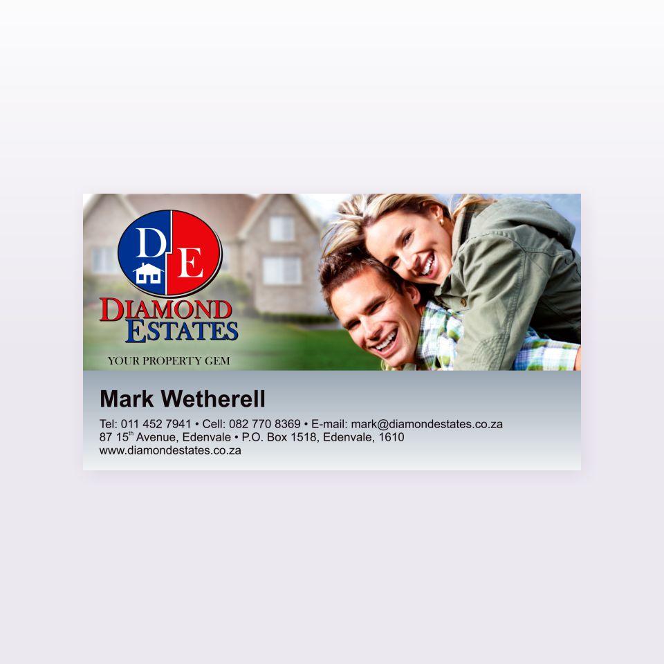 Diamond Estates business card