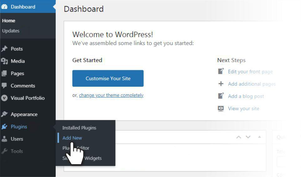 Add a plugin in WordPress